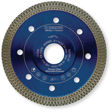 Disque diamant SPECIALline Premium 125x22,2x1,4 mm carrelage